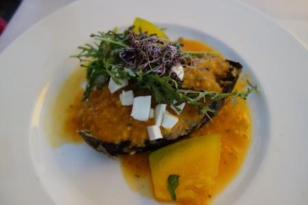 aubergine farcie troisième jour de ré alimentation jeûne Marbella