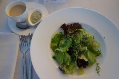 entrée déjeuner deuxième jour ré alimentation jeûne Buchinger Marbella