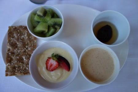 petit déjeuner deuxième jour de réalimentation jeûne Buchinger Marbella