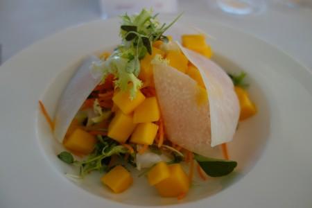 salade de carottes mangue entrée diner quatrième jour réalimentation jeûne Marbella