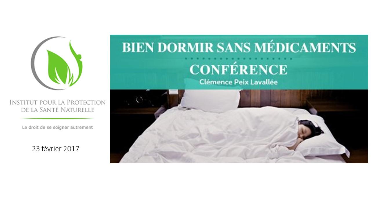 Conférence sommeil sophrologie Bien dormir sans médicaments IPSN