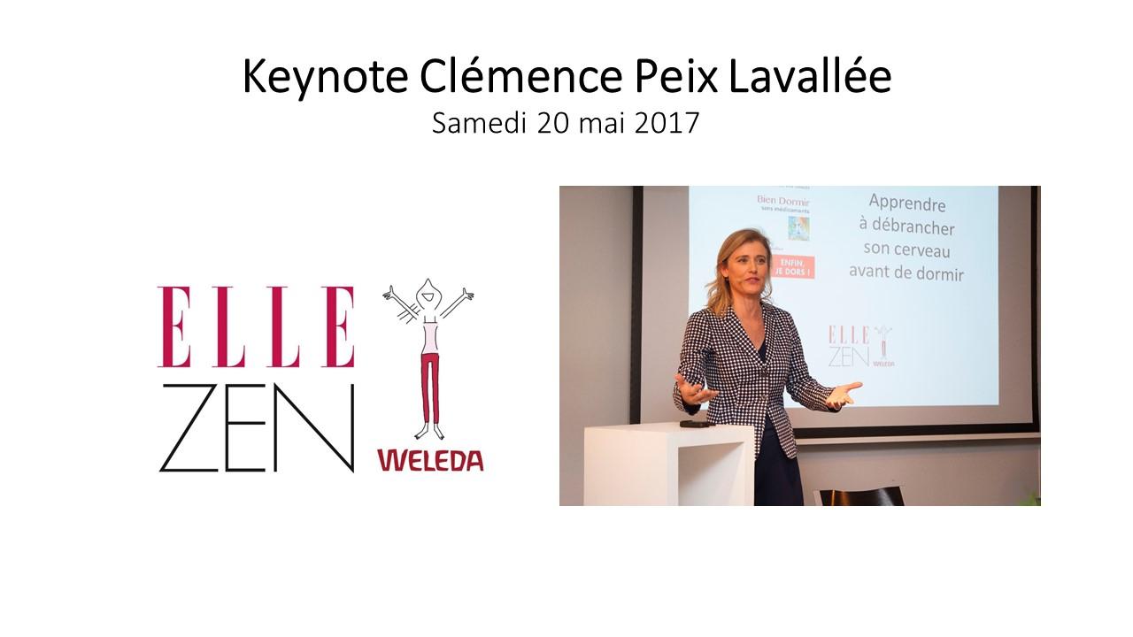 keynote sommeil sophrologie clémence peix lavallée_Forum Elle Zen